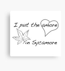 The Amore in Sycamore Canvas Print