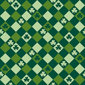 Saint Patrick's day green shamrock leaves pattern by mrhighsky