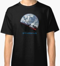 STARMAN with Starman SpaceX style Font. Classic T-Shirt