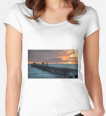 Sunset at the Pier Women's Fitted Scoop T-Shirt