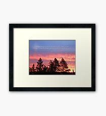 Serenity  Prayer Sunrise Blue Orange Framed Print