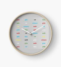 Stroop Test deutsch Uhr