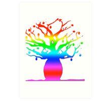 Rainbow Boab Art Print