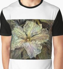 Redreaming Deep Dreamed White Flower  Graphic T-Shirt