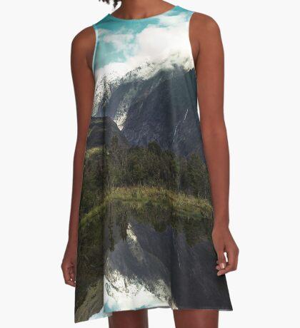 (Franz-Josef-Gletscher) Wo der Schnee schmilzt A-Linien Kleid