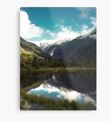 (Franz-Josef-Gletscher) Wo der Schnee schmilzt Metallbild