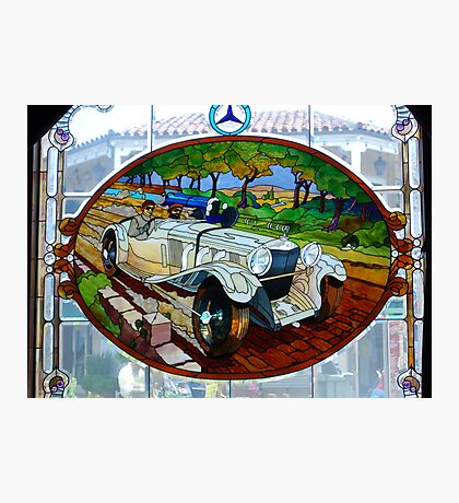 Vintage Mercedes stain glass window ~ Monterey Photographic Print
