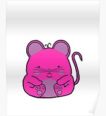 Cute Mouse - Pink Poster