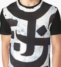 Abstract Calligraphy Graphic T-Shirt