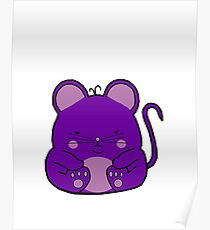 Cute Mouse - Purple Poster