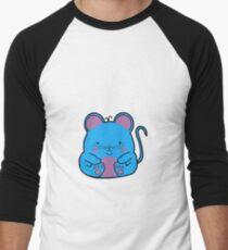 Cute Mouse - Blue Men's Baseball ¾ T-Shirt