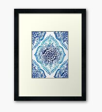 Indian Ink - in blues Framed Print