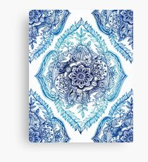 Indian Ink - in blues Canvas Print