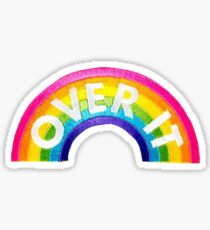 Over It Rainbow Patch Sticker
