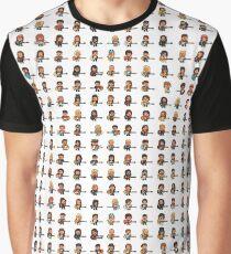 Rock Battle Pixel Musicians Rocking Guitar and Bass Graphic T-Shirt