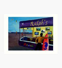 DOWN AT RALPHS  Art Print