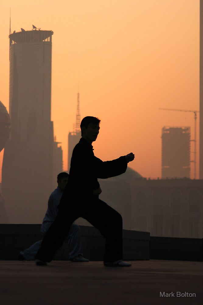 Early Morning Tai Chi (太极拳) on Shanghai's Bund by Mark Bolton