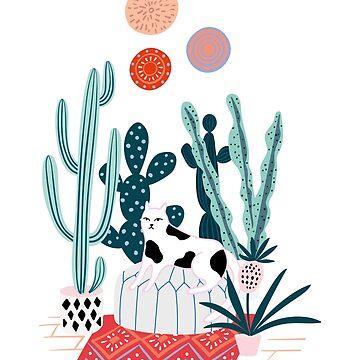 Cat and cacti by anyuka