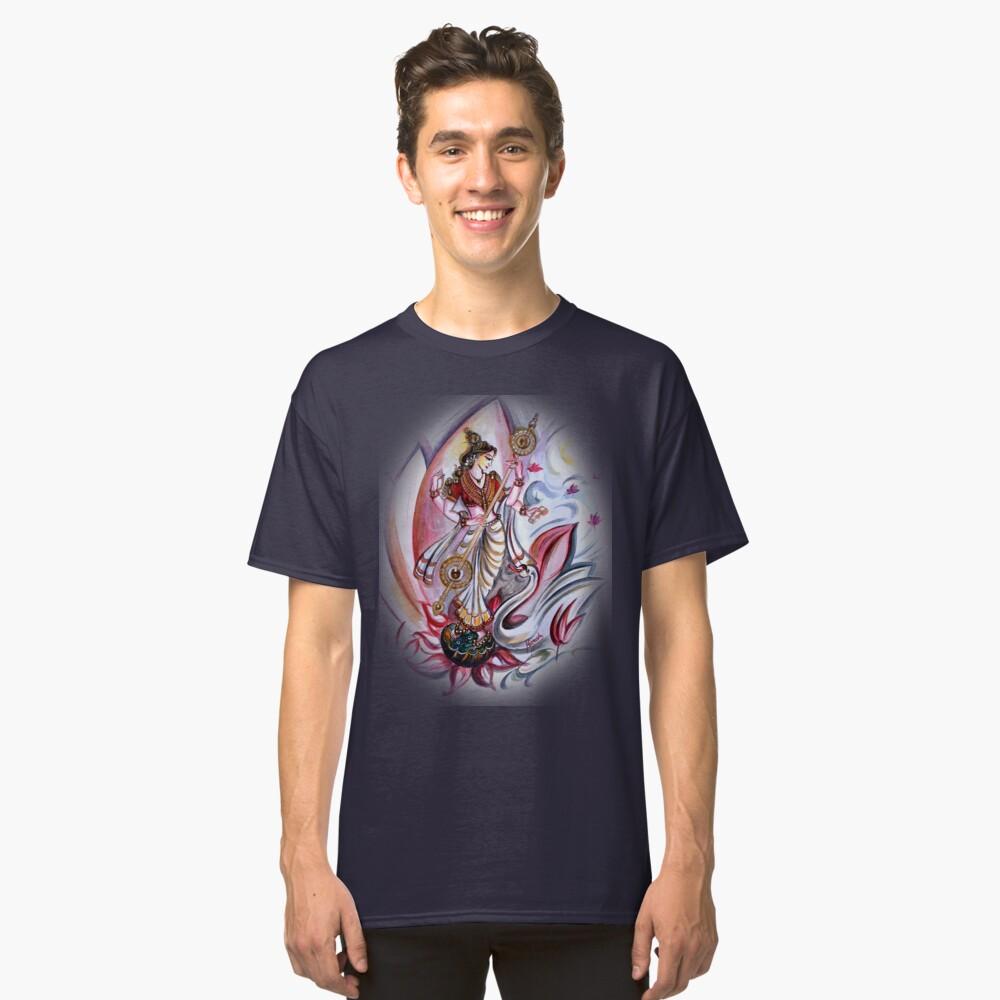 Musikalische Göttin Saraswati - Heilkunst Classic T-Shirt