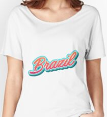 Brazil Typography Women's Relaxed Fit T-Shirt