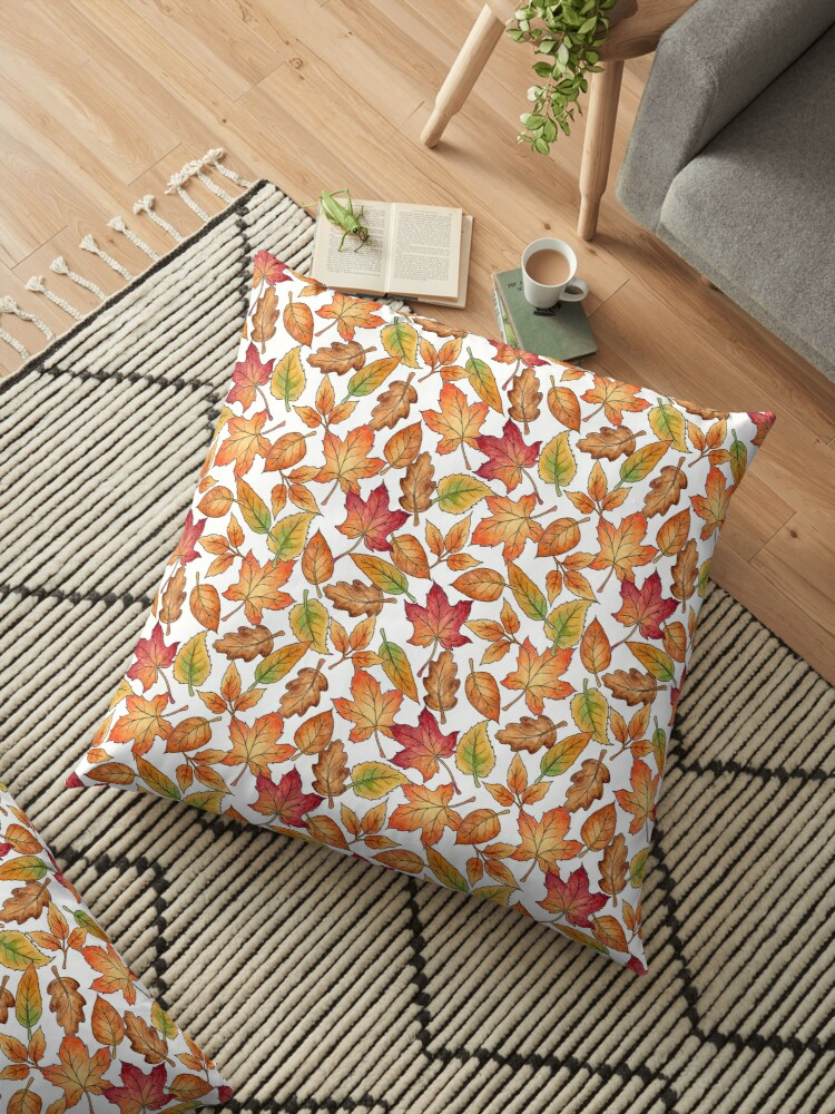Autumn Leaves Pattern by Hazel Fisher