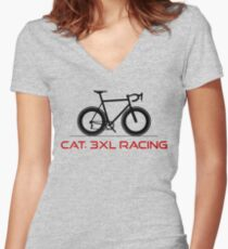 Cat. 3XL Racing  Women's Fitted V-Neck T-Shirt