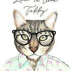 Livin' La Vida Tabby Cat by PaperTigressArt