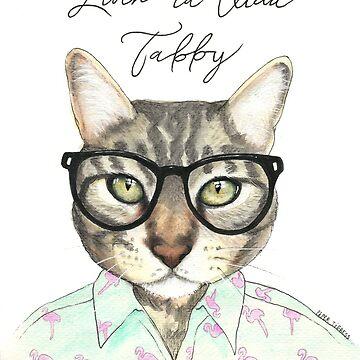 Livin 'La Vida Tabby Cat de PaperTigressArt
