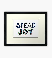 spread joy Framed Print