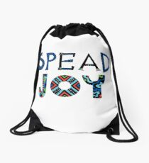 spread joy Drawstring Bag