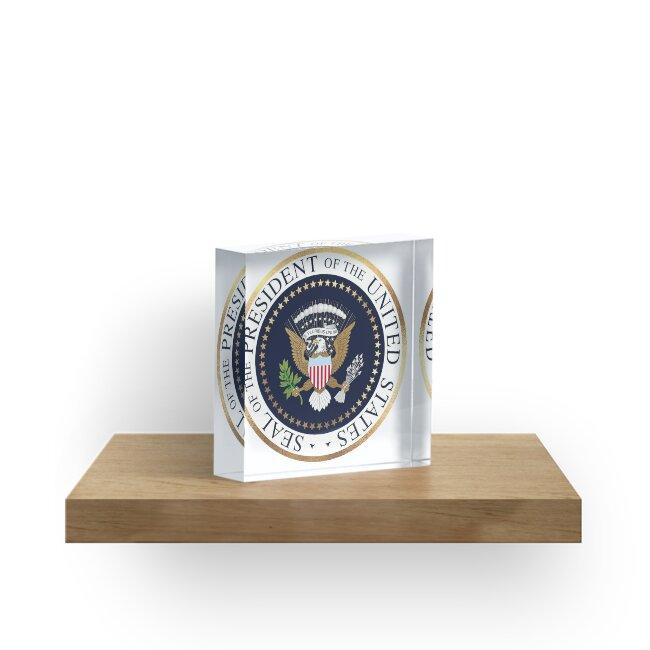 Presidential Seal (Faux Gold Trim) by PixDezines