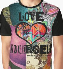 Love yourself digital collage Graphic T-Shirt