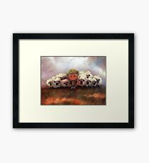 A Boy and His Herd Framed Print