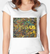 This is Us Painting Women's Fitted Scoop T-Shirt