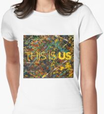 This is Us Painting Women's Fitted T-Shirt