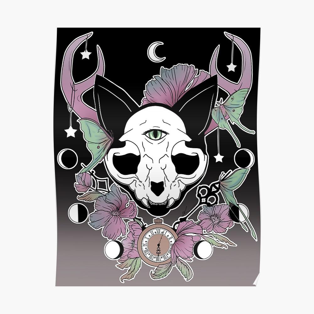 Twilight -- Skull Cat Poster
