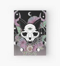 Cuaderno de tapa dura Crepúsculo - gato del cráneo