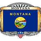 Montana Art Deco Design with Flag by Cleave