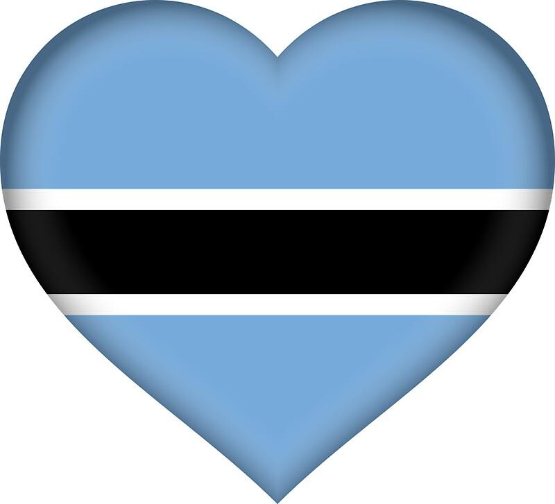 I love botswana flag sticker by bokrok