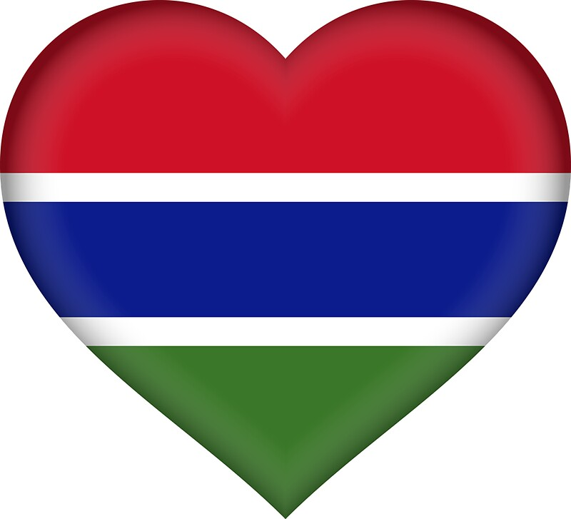 I love the gambia flag sticker by bokrok