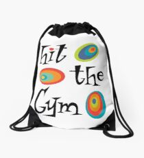hit the gym Drawstring Bag
