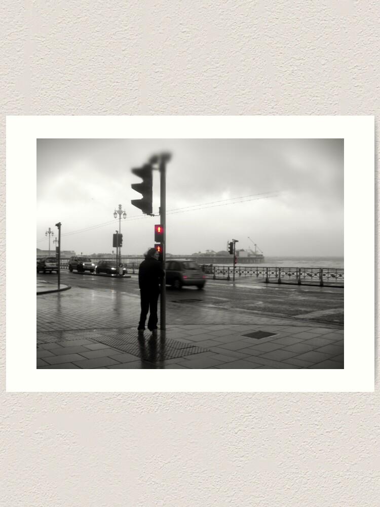 Alternate view of Storm Warning on Brighton Beach Art Print