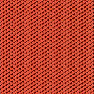 T-Rex (black on orange/red) leggings by James Hutson