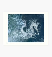 Frost Dragon Art Print