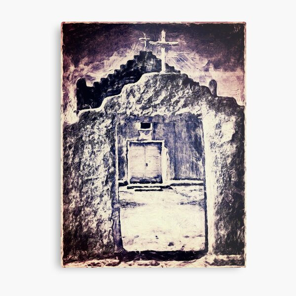 The Church Entrance, Reworked Metal Print