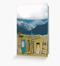 Taos Pueblo Sangre de Cristo Mountains Greeting Card