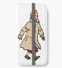 Tintin walking iPhone Wallet/Case/Skin