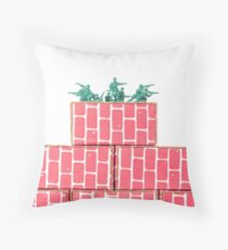 Army Men Guarding Base Throw Pillow