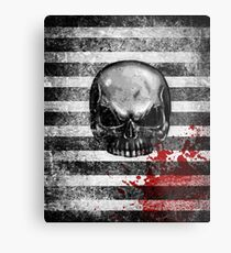 blood stained skull Metal Print