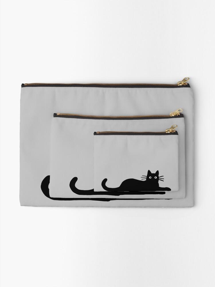 Alternate view of Black Cat Zipper Pouch